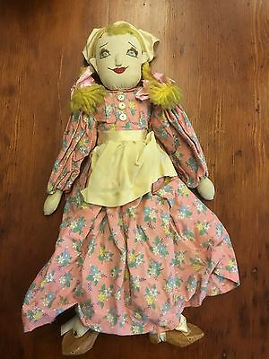 Vintage Hand Sewn Dutch Doll With Sodden Shoes