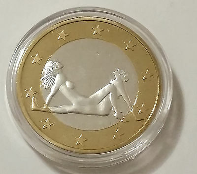 Euro Sex Souvenir Coins Sliver and Gold Plated Coin #3