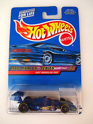 Hot Wheels 2000 Col#017 Hot Wheels 500 The Mad Racer Logo & Goodyear Tires