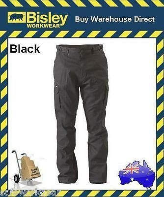 Bisley Workwear 8 Pocket Cargo Cotton Drill Men's Work Trousers Pants BPC6007