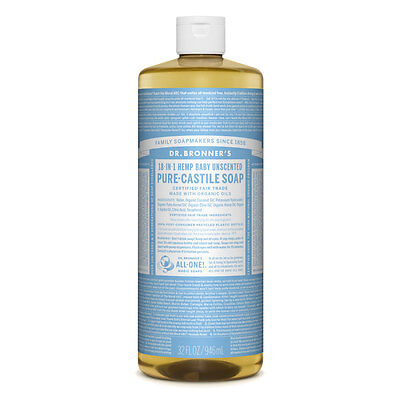 Dr. Bronner's Pure - Castile Liquid Soap - Baby Mild, 946ml