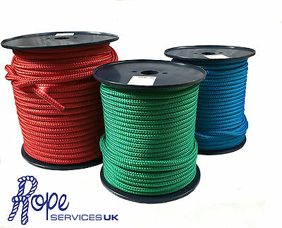 Braid on Braid Polyester marine rope double braid Choose Your Colour & Diameter