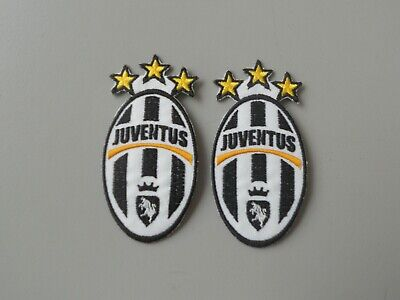 Patch Juventus N.2 Toppe  Ricamate Termoadesiva Con Stelle