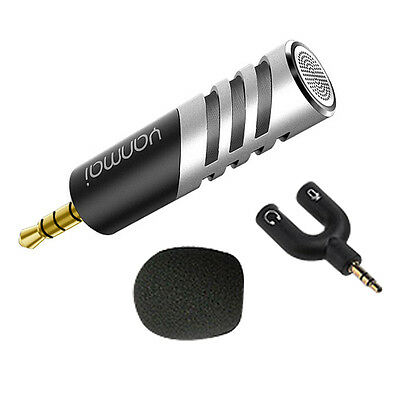 Mini Condenser Microphone Digital Stereo 3.5mm for Mobile Phone PC Recorder NEW