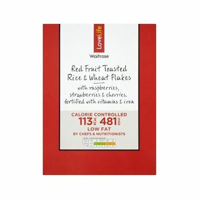 You Count Red Fruit Toasted Rice & Wheat Flakes Waitrose Love Life 375g