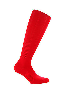 Samson® Red Football Socks Plain Socks Rugby Hockey Quality Mens Womens Kids