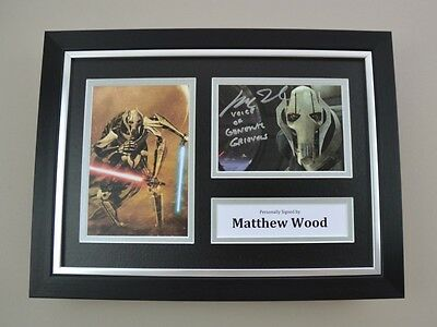 Matthew Wood Signed A4 Photo Framed Star Wars Memorabilia Autograph Display +COA