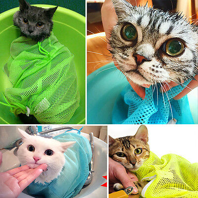 Pet Cat Grooming Bathing Restraint Bag Washing Nails Cutting Ear Cleaning Pocket