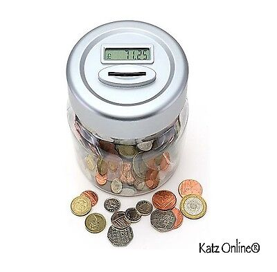 Digital Coin Counting Money Jar Safe Piggy Bank LCD Display Counter Gift Box NEW