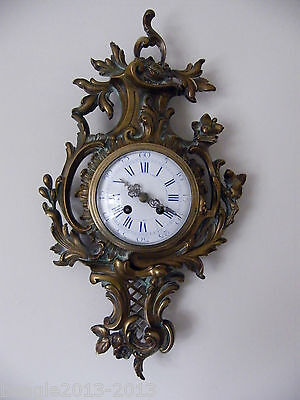 JAPY FRERES ANTIQUE FRENCH BRONZE CARTEL WALL CLOCK 1870s