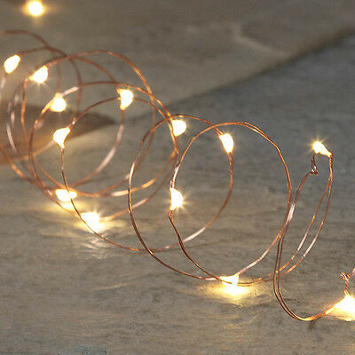 5M Outdoor Garden Battery Operated Christmas Copper Fairy String Lights