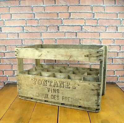 Wooden Crate - French Vintage Crate - Wine Storage