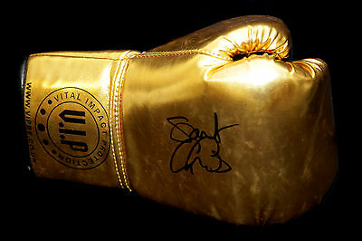 *Rare* George Groves Hand Signed Gold Vip Boxing Glove