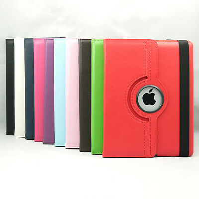 Stylish 360 Rotating Leather Case, Smart Cover Stand *fits* Apple New Ipad 4 3 2