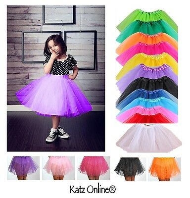 High Quality Kids Girls Tutu Skirt Fancy Tulle Skirts Dress Up Party 3 Layers