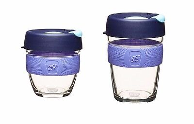 KeepCup Brew Glass Coffee Cup Reusable New Cabernet 8oz 227mL 12oz 340mL