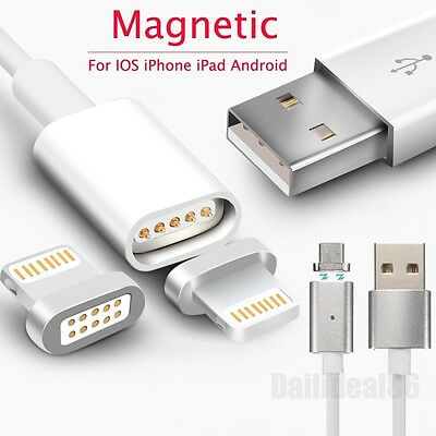 Magnetic Adapter Charger USB Charging Line Cable For Apple iPhone Pad Samsung LG