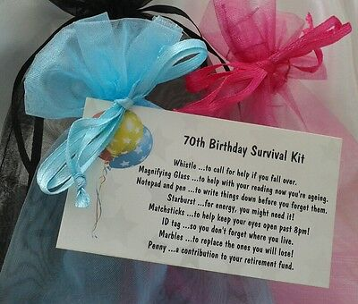 Birthday Novelty Gift - Hand made - Personalised for 70th Birthday