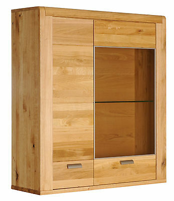 h ngeschrank h ngevitrine schrank wildeiche eiche massiv holz ge lt ovp neu eur 349 00. Black Bedroom Furniture Sets. Home Design Ideas