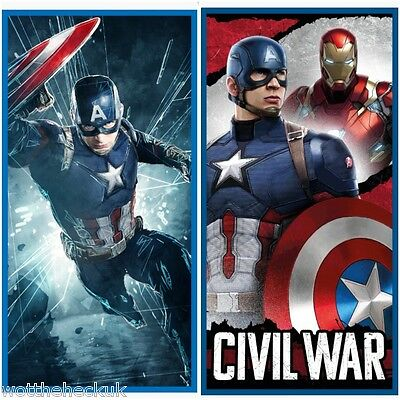 Official Marvel Avengers Captain America Civil War Swimming Beach Bath Towel
