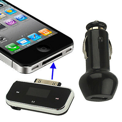 TECNICO Black FM Transmitter, Size: 50 x 21 x 10mm, For iPhone 4 & 4S / 3GS / 3