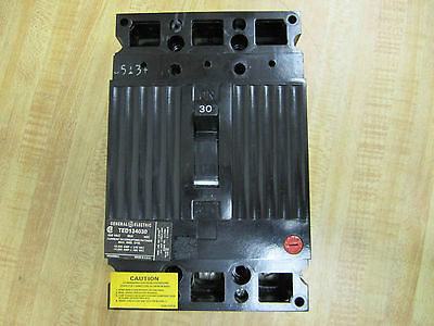 GE TED134030WL 480V  30Amp 3-Pole molded case circuit breaker