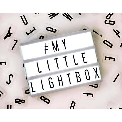 A5 My Little Mini Cinematic Lightbox Personalisable Letter Cinema Sign