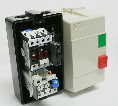 Enclosed Motor Starter Box Contactor Overload Start Stop 2.9-4 A 120V Coil 2Hp