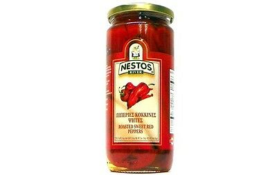 Nestos River Fire Roasted Sweet Red Florina Peppers - 16 oz