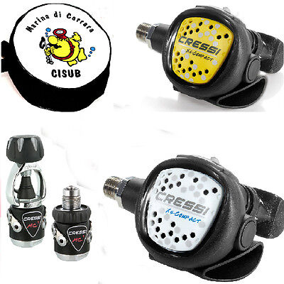 SW 253 CRESSI regulator MC9 XS Compact SILVER + octopus XScompact.