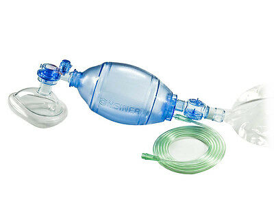 Adult Manual Resuscitator 1500ml Silicone Ambu Bag+Oxygen Tube CPR First Aid kit