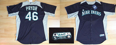 MLB Authentic Baseball Trikot/Jersey SEATTLE MARINERS Pryor 46 GameUsed 52/XXL
