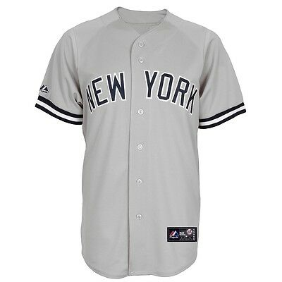 MLB Baseball Trikot Jersey NEW YORK NY YANKEES Road grau von Majestic