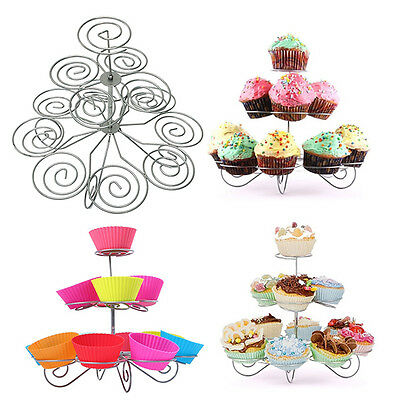 Muffin Cakes Cupcake Stand Holder Tower Decorating Supplies Baking Kitchenware