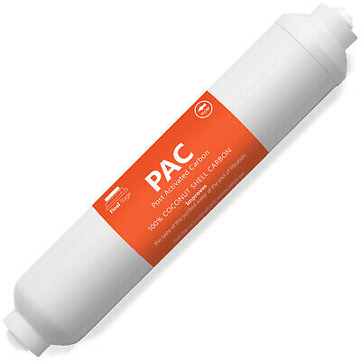 """10pk Female Threaded Inline Coconut Carbon Water Post Filter Reverse Osmosis 10"""""""