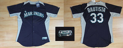 MLB Authentic Baseball Trikot/Jersey SEATTLE MARINERS Bautista 33 GameUsed 50/XL