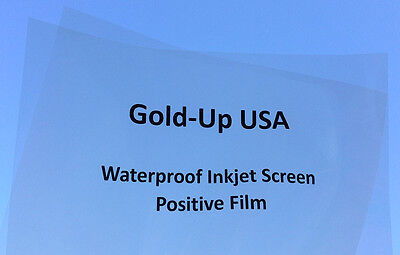 "Waterproof Inkjet Transparency Film 13"" x 19"" 100 sheets - 4 Mil"