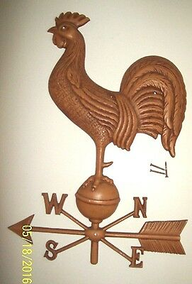 Great Vintage Antique Iron Metal Tin Weathervane Barn Mounted Folk Art