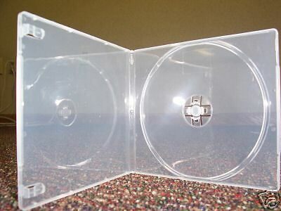 200 7Mm Slim Square Poly Cd/dvd Cases, Clear - Psc6