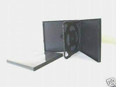 100 Slim Black Quad Cd / Dvd Poly Cases With Sleeve Psc75