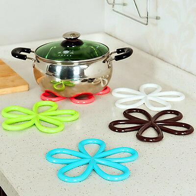 1 Pc Silicone New Cup Bowl Mat Coasters Blossom Heat Insulation Cushion Table