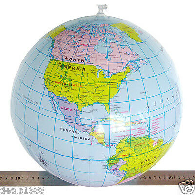 40cm Inflatable World Earth Globe Maps Geography Education Toy Map Beach Balloon