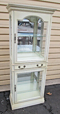 55306 JASPER Curio Cabinet China with 2 Doors and Drawer