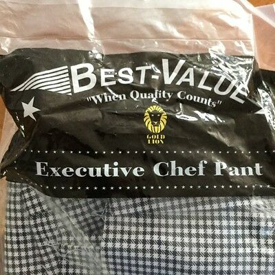 Brand NEW Executive Chefs Black and White Checkered pants