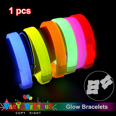 New 1X Mixed Colour Glow Sticks Bracelets Light Party Glowsticks in the Dark Dec