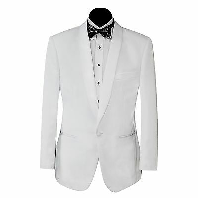 New Mens White Shawl Lapel Tuxedo Jacket And Trousers