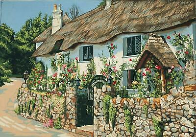 Grafitec Printed Tapestry/Needlepoint Canvas – Thatched Cottage