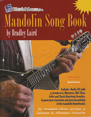 Mandolin Song Book TAB & Music Notation Songbook with CD by Bradley Laird