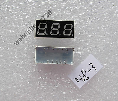 10pcs 0.28 inch 3 digit led display 7 seg segment Common cathode 阴 red 0.28""