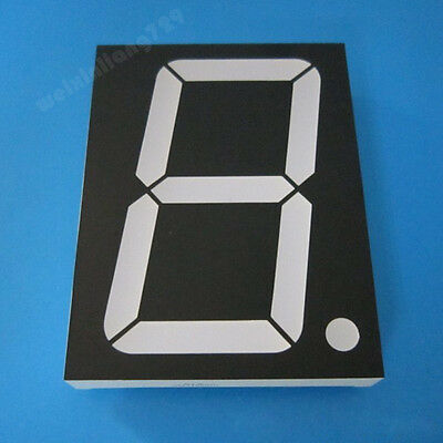 2pcs 3 inch 1 digit led display 7 seg segment Common anode 阳 white 3""